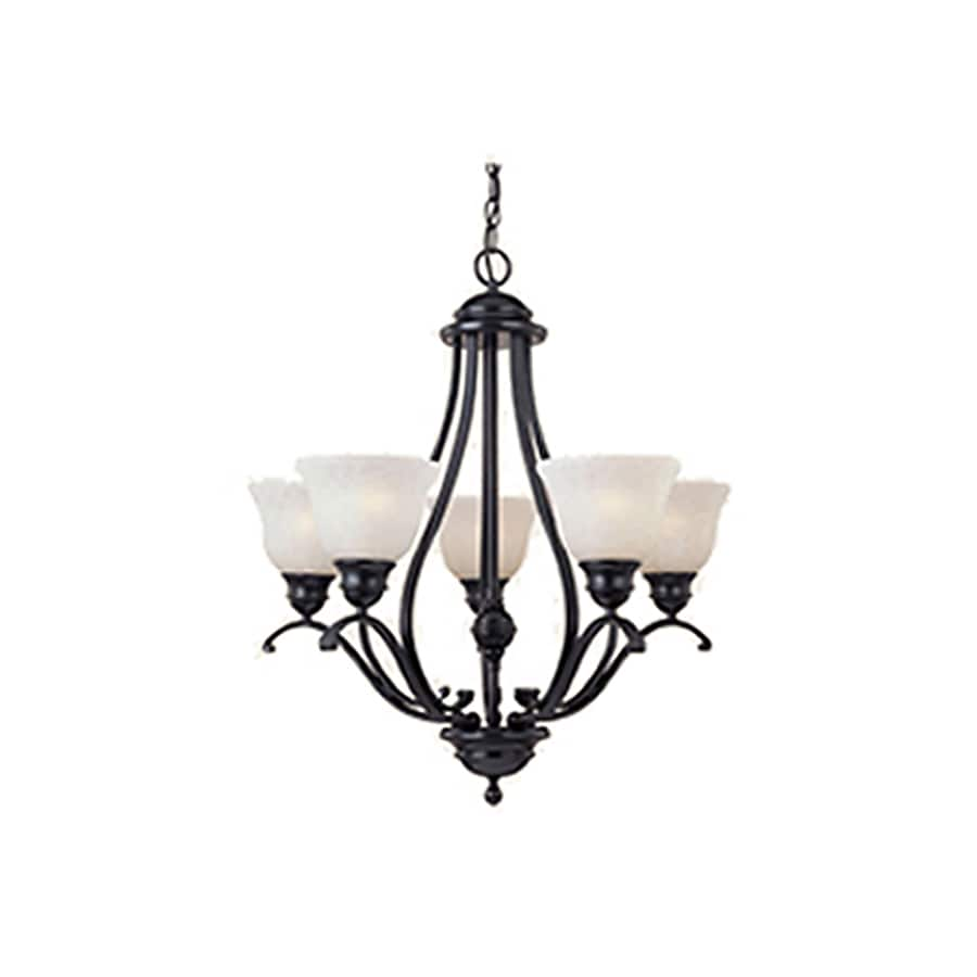 Pyramid Creations Linda 26-in 5-Light Black Chandelier