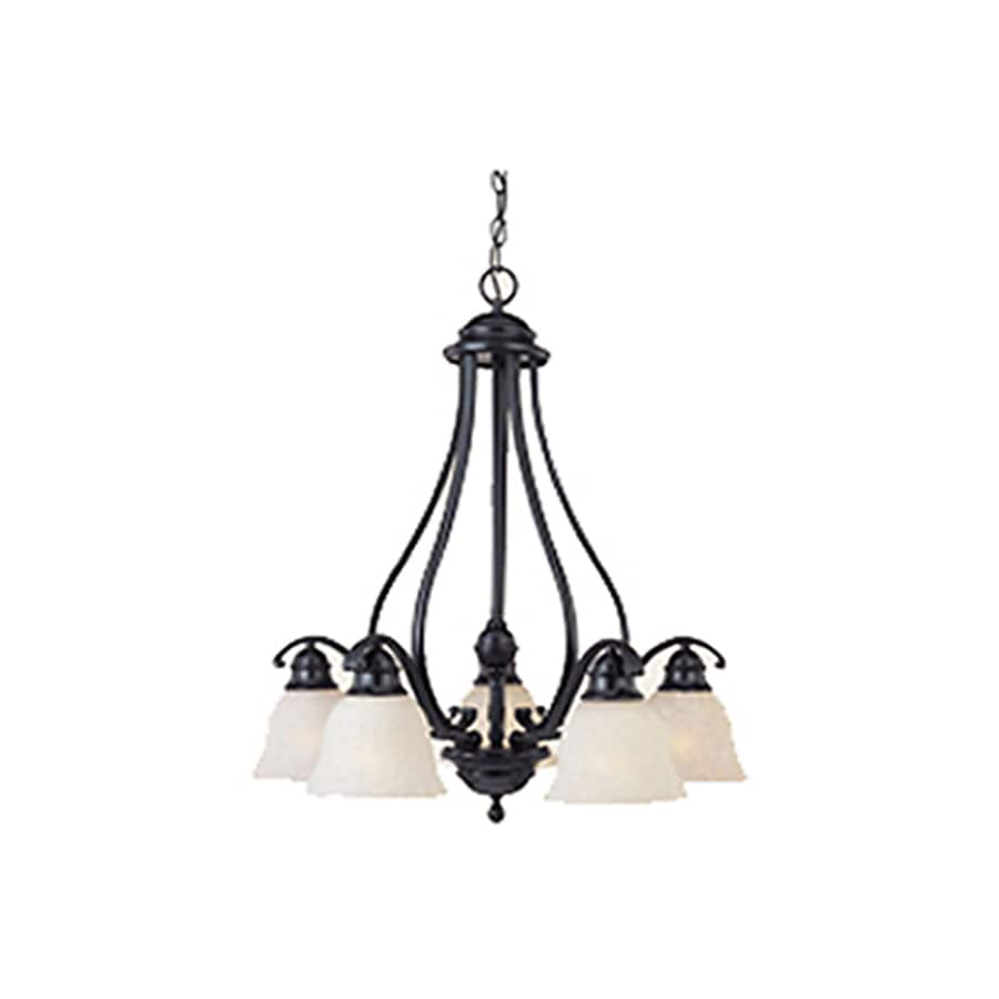 Pyramid Creations Linda 25-in 5-Light Black Standard Chandelier