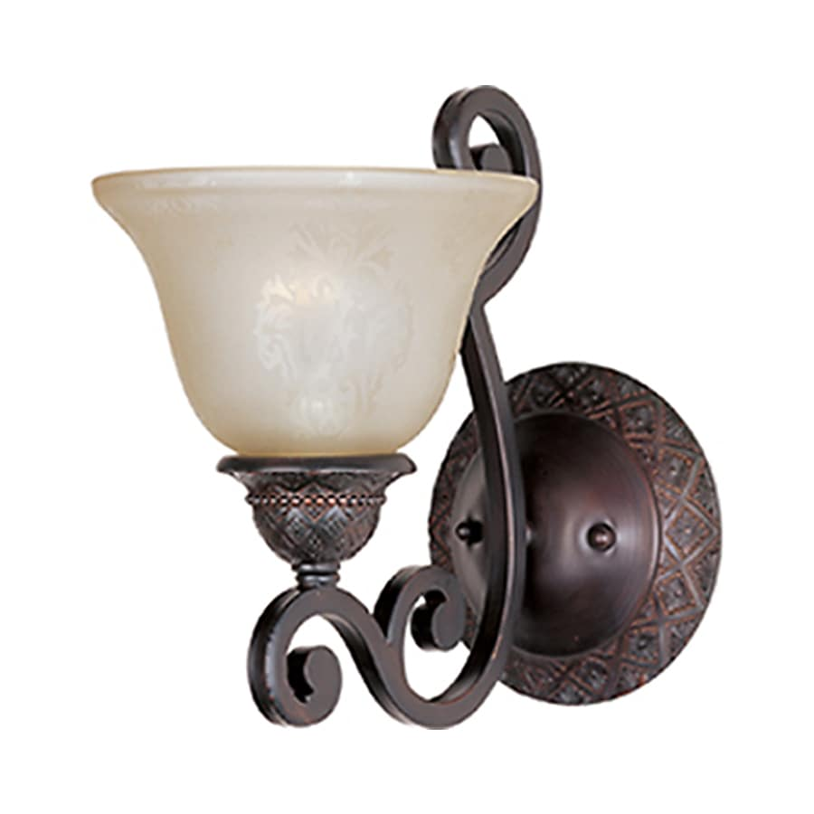 Symphony Wall Lights Black : Shop Pyramid Creations Symphony 7-in W 1-Light Bronze Arm Wall Sconce at Lowes.com