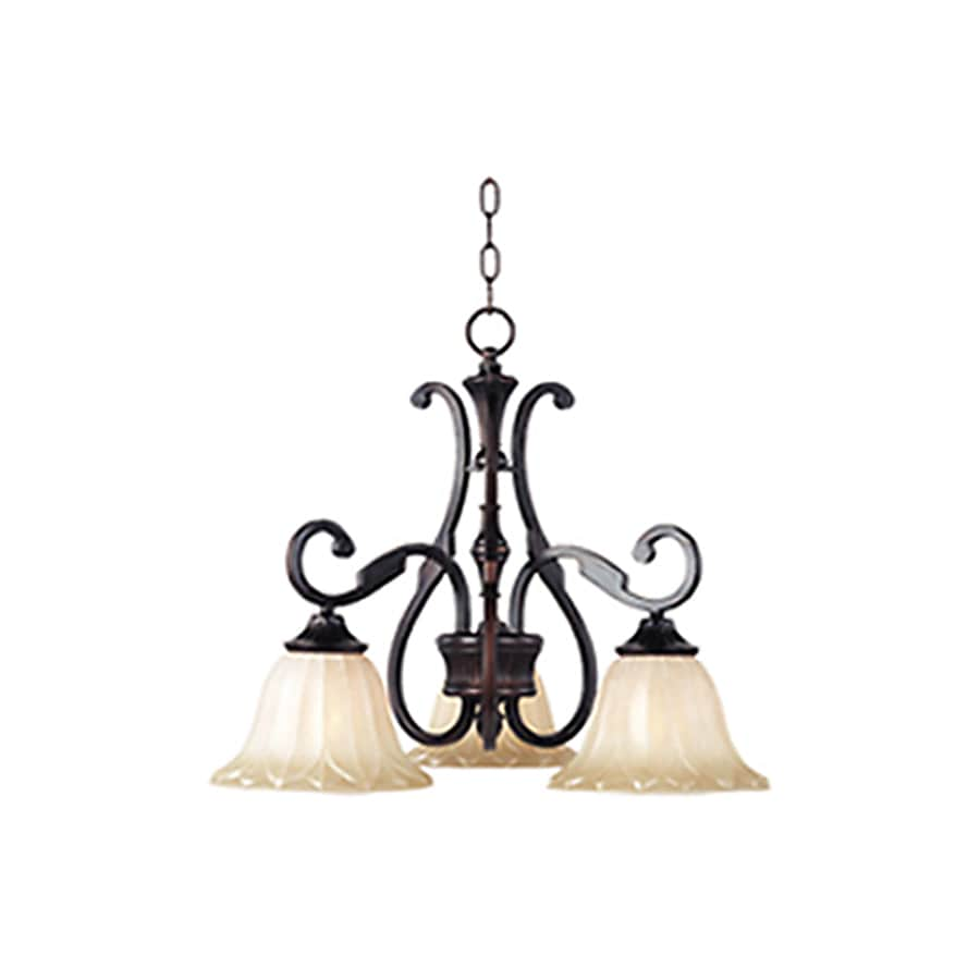 Pyramid Creations Allentown 23-in 3-Light Oil-Rubbed Bronze Chandelier