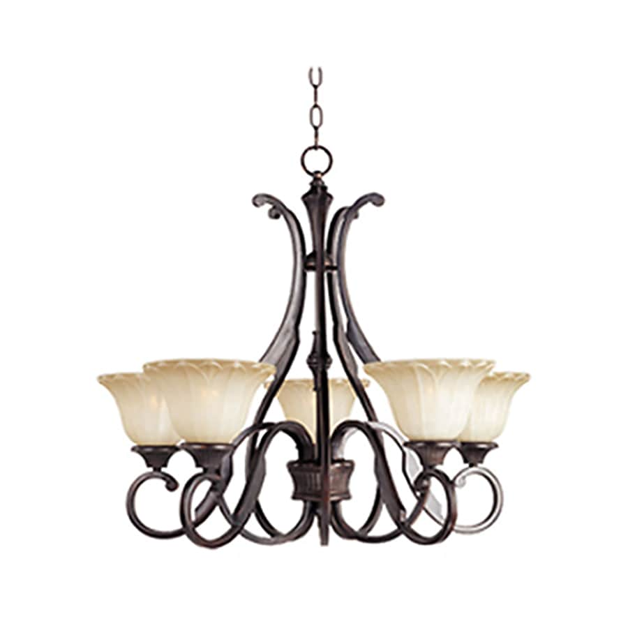 Pyramid Creations Allentown 27-in 5-Light Oil-Rubbed bronze Chandelier
