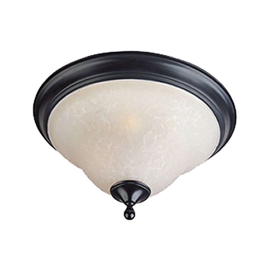 Pyramid Creations 16-in W Black Standard Flush Mount Light