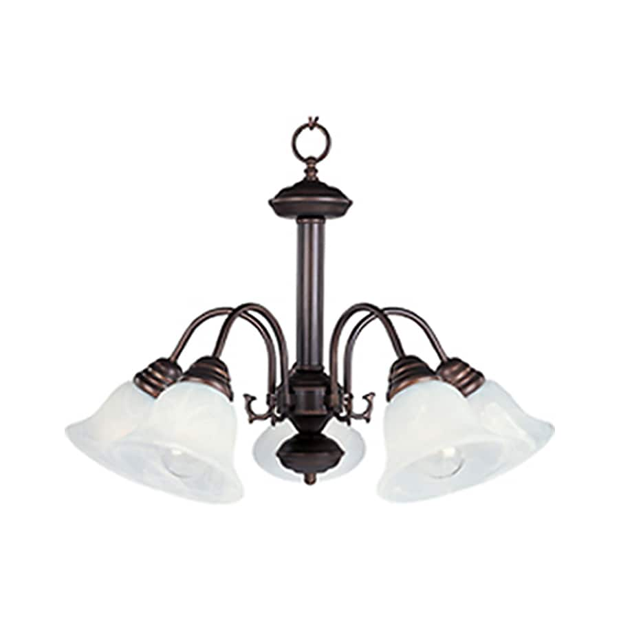Pyramid Creations Malibu 24-in 5-Light Oil-Rubbed Bronze Chandelier