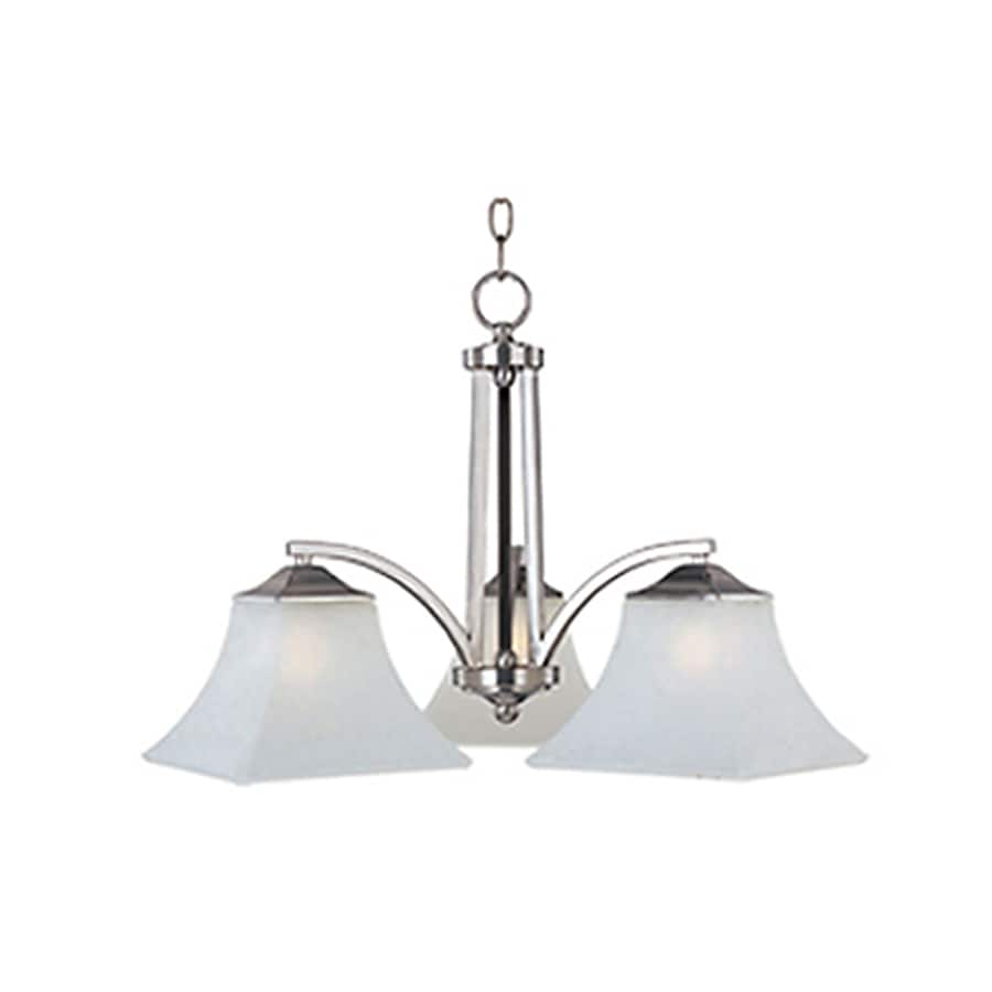 Pyramid Creations Aurora 22.5-in 3-Light Satin Nickel Chandelier
