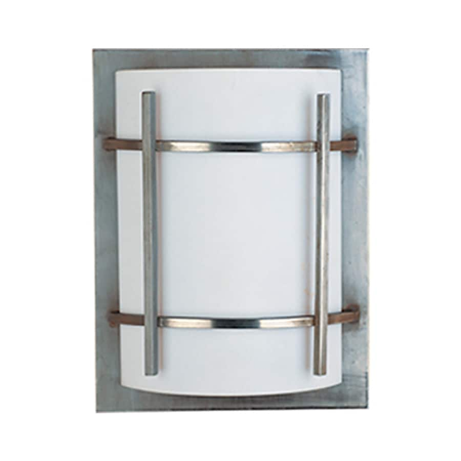 Metal Outdoor Wall Lights : Shop Pyramid Creations Lun 12-in H Brushed Metal Outdoor Wall Light at Lowes.com