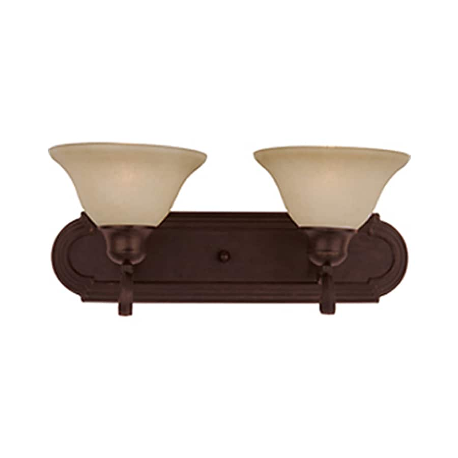 Pyramid Creations Pacific 2-Light Oil-Rubbed Bronze Bell Vanity Light