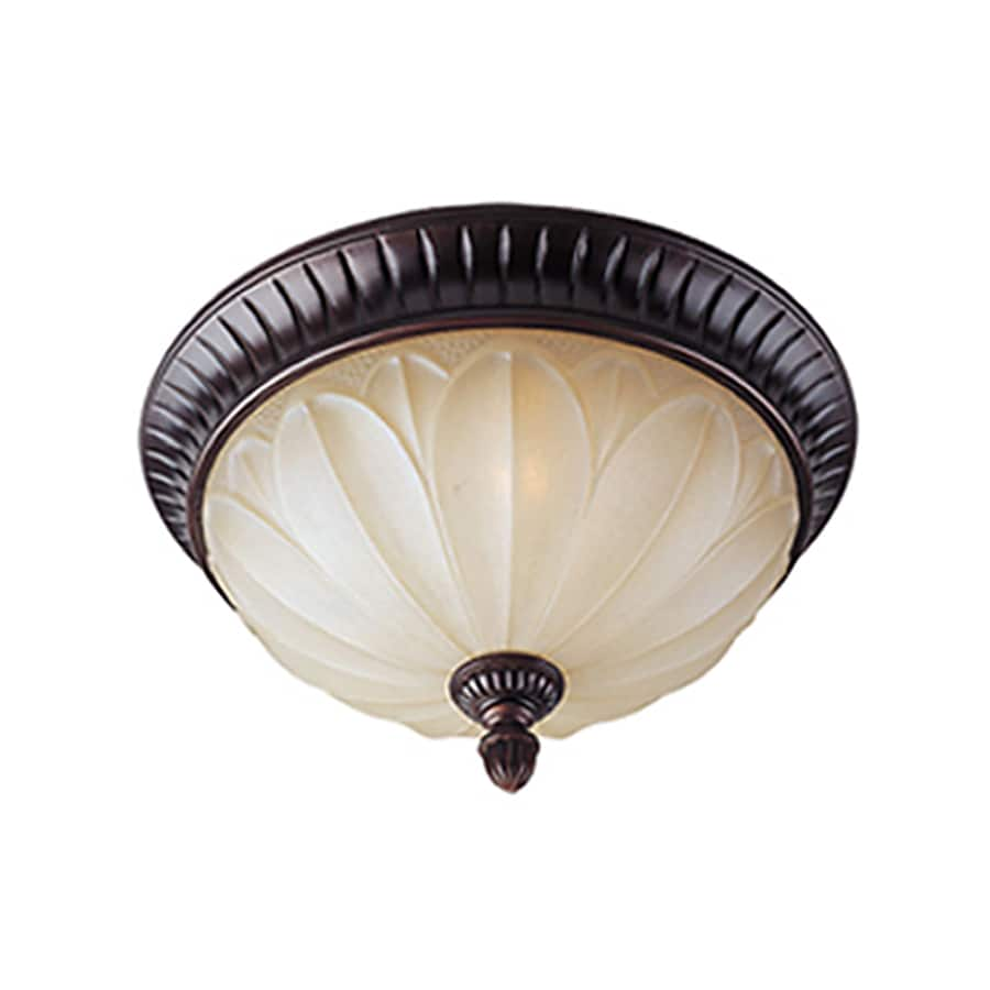 Pyramid Creations 15-in W Oil-Rubbed Bronze Standard Flush Mount Light