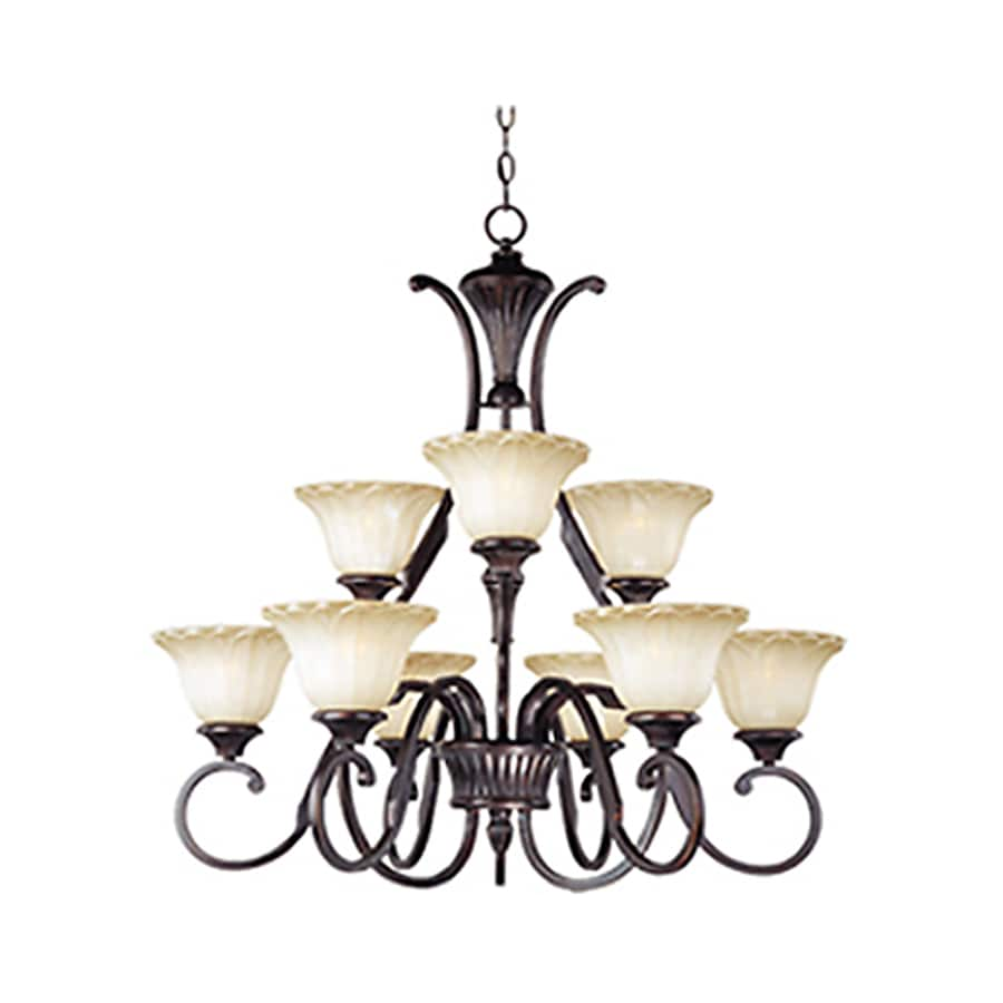 Pyramid Creations Allentown 31.5-in 9-Light Oil-Rubbed Bronze Standard Chandelier