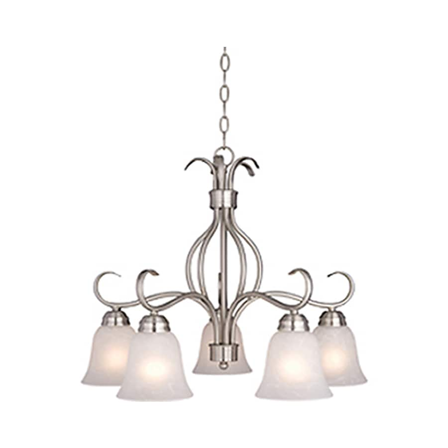 Pyramid Creations Basix 25-in 5-Light Satin Nickel Standard Chandelier