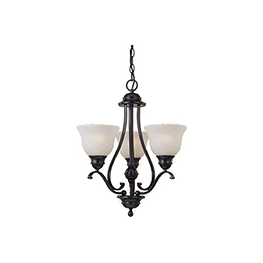 Pyramid Creations Linda 19-in 3-Light Black Chandelier