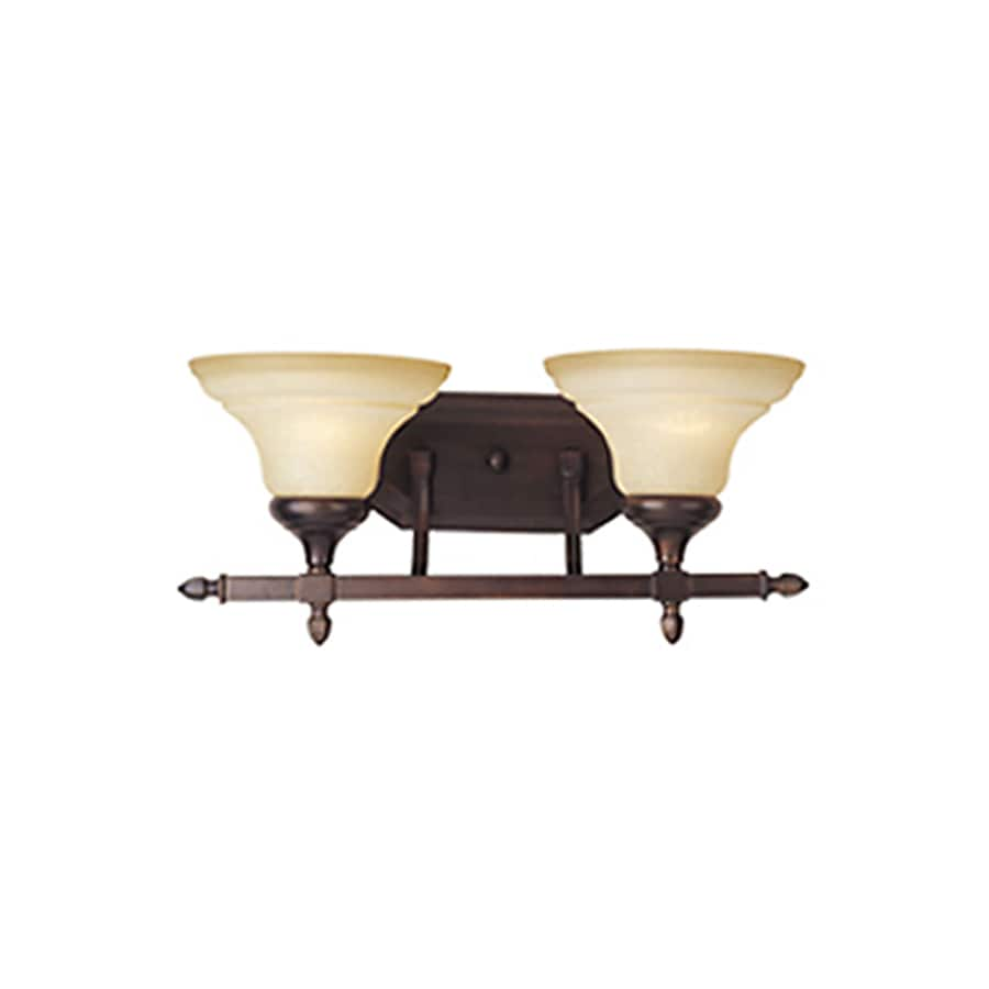 Pyramid Creations South Bend 2-Light 8.5-in Oil-Rubbed Bronze Vanity Light