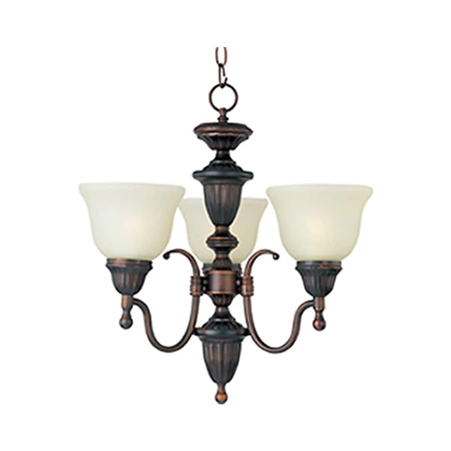 Pyramid Creations Soho 19.5-in 3-Light Oil-Rubbed Bronze Chandelier