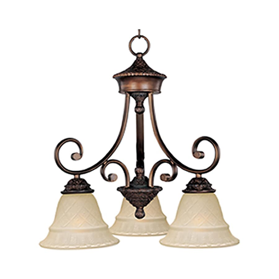 Pyramid Creations Brighton 19-in 3-Light Oil-Rubbed bronze Chandelier