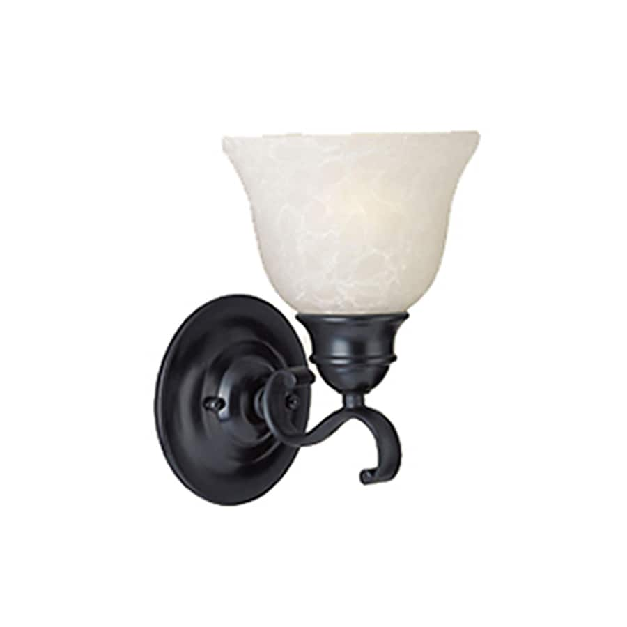 Pyramid Creations Bel Air 15.5-in W 1-Light Black Arm Hardwired Wall Sconce