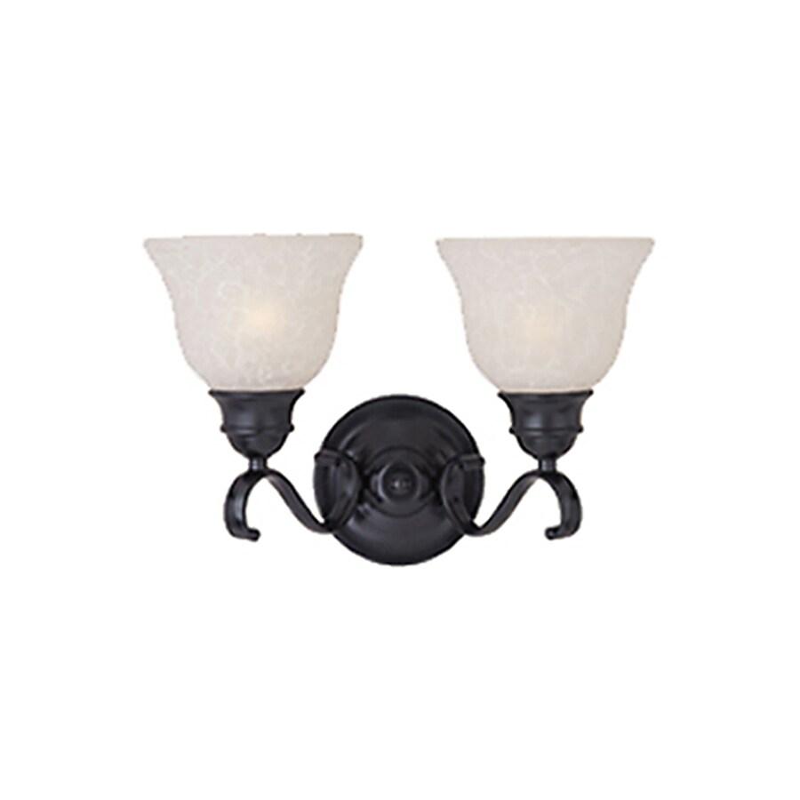 Pyramid Creations Linda 2-Light 10-in Black Bell Vanity Light