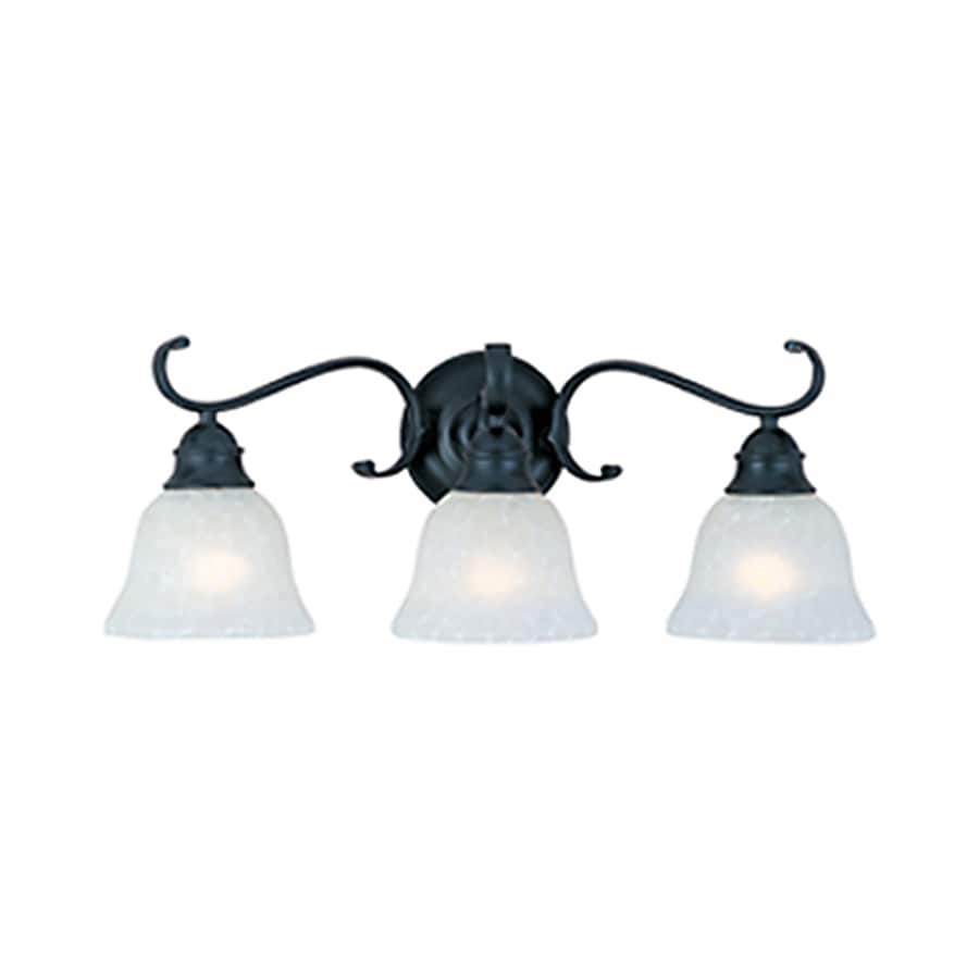 Pyramid Creations Linda 3-Light 9-in Black Bell Vanity Light