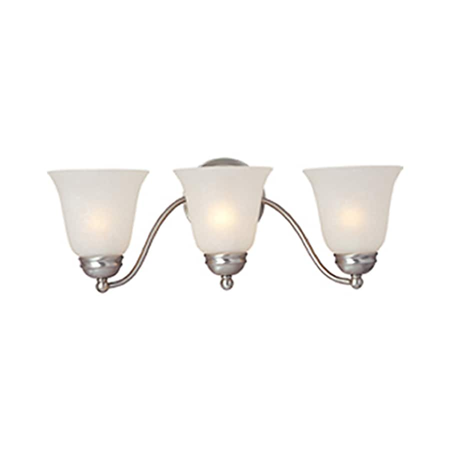 Pyramid Creations Basix 3-Light 8-in Satin nickel Bell Vanity Light