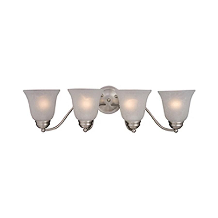 Pyramid Creations Basix 4-Light 8-in Satin Nickel Bell Vanity Light