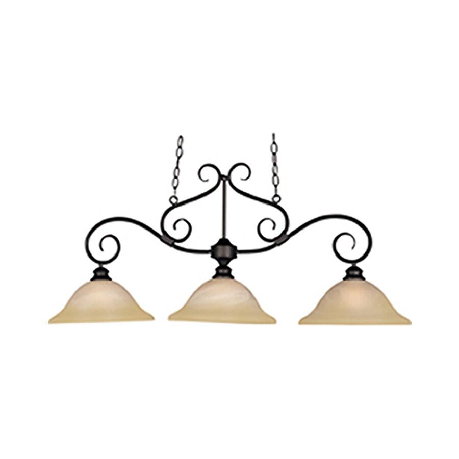 Pyramid Creations Pacific 13-in Bronze Single Pendant
