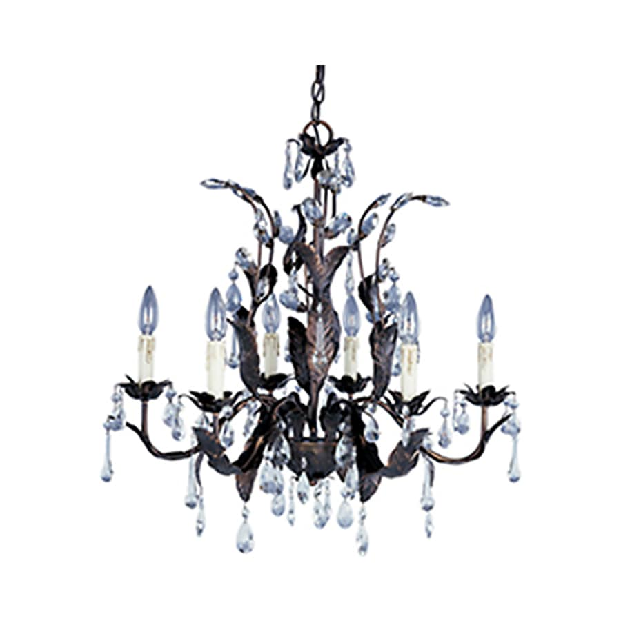 Pyramid Creations Grove 26.5-in 6-Light Oil-Rubbed Bronze Standard Chandelier