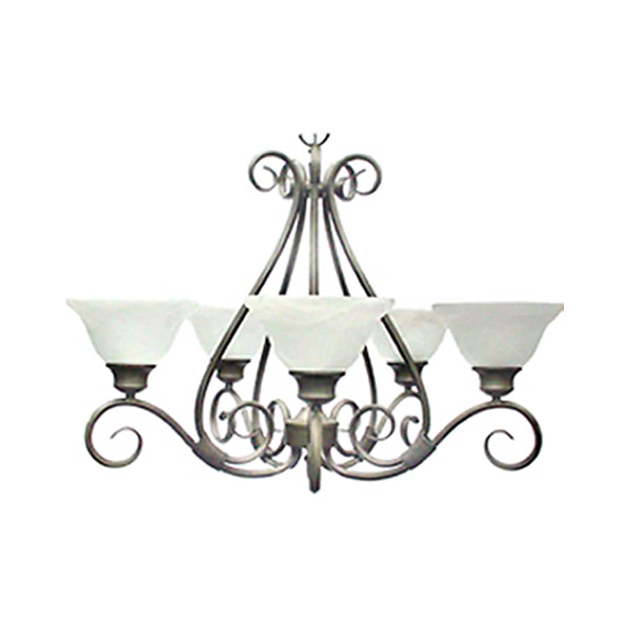 Pyramid Creations Pacific 29-in 5-Light Pewter Chandelier