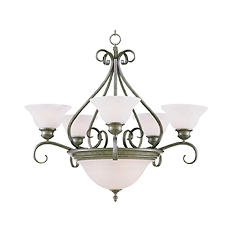 Pyramid Creations Pacific 27-in 7-Light Pewter Chandelier