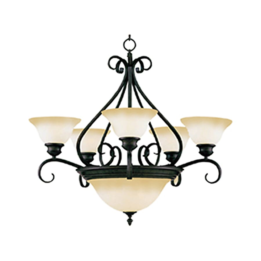 Pyramid Creations Pacific 27-in 7-Light Kentucky Bronze Chandelier