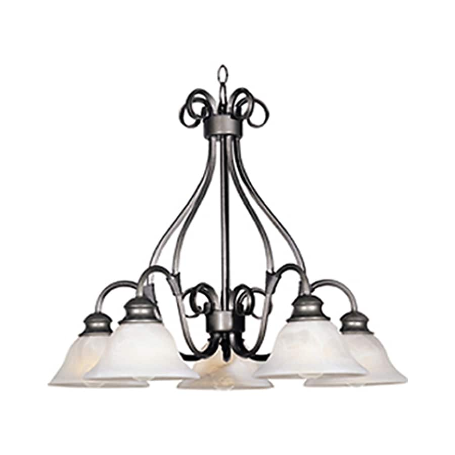 Pyramid Creations Pacific 26-in 5-Light Pewter Chandelier