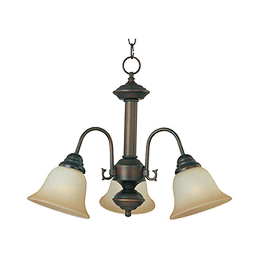 Pyramid Creations Malibu 20-in 3-Light Oil-Rubbed Bronze Chandelier