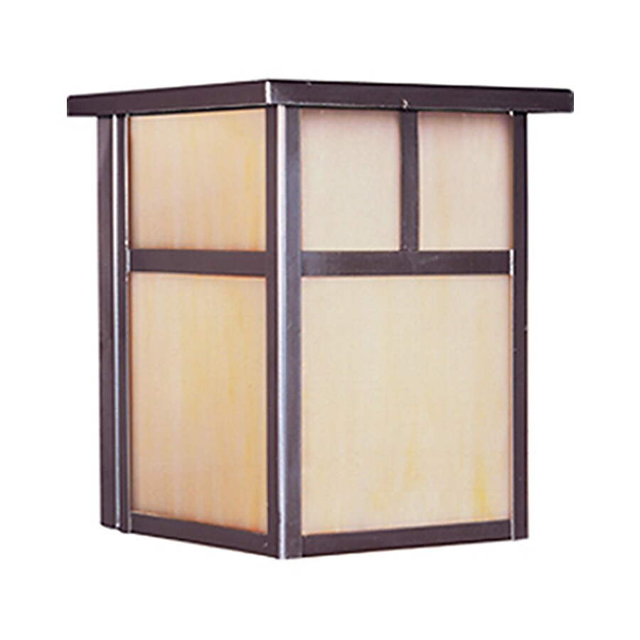 Pyramid Creations Coldwater 8-in H Burnished Outdoor Wall Light