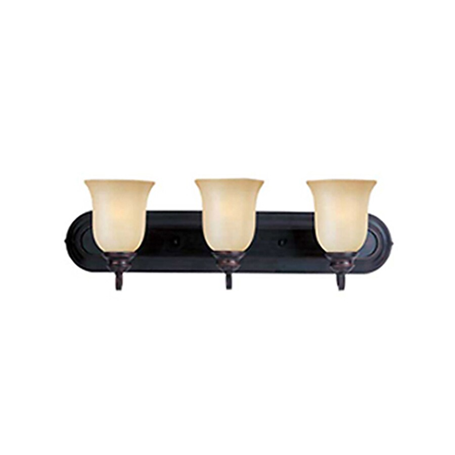 Pyramid Creations Essentialss 3-Light 7.5-in Oil-Rubbed bronze Vanity Light