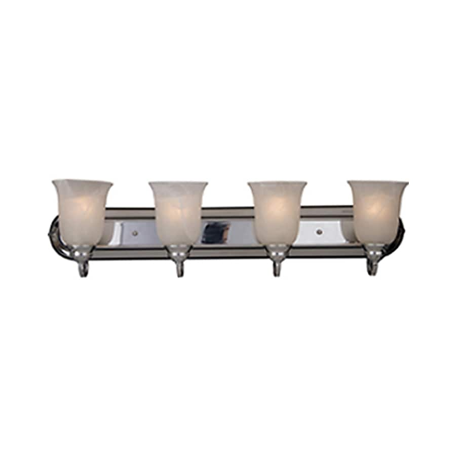 Pyramid Creations Essentialss 4-Light 7.5-in Polished Chrome Bell Vanity Light
