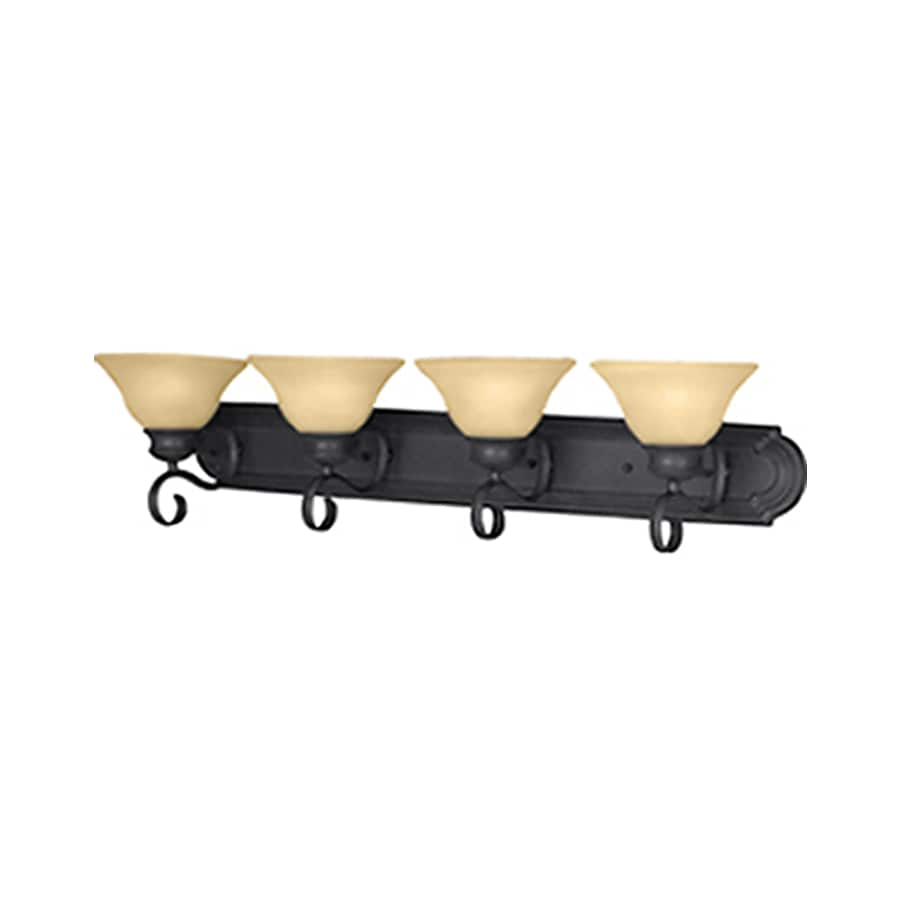 Pyramid Creations Pacific 4-Light 8-in Kentucky bronze Bell Vanity Light