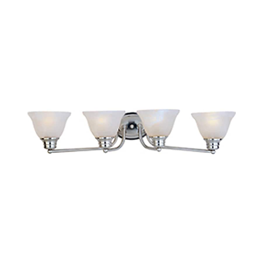 Pyramid Creations Malibu EE 4-Light 6-in Satin Nickel Vanity Light