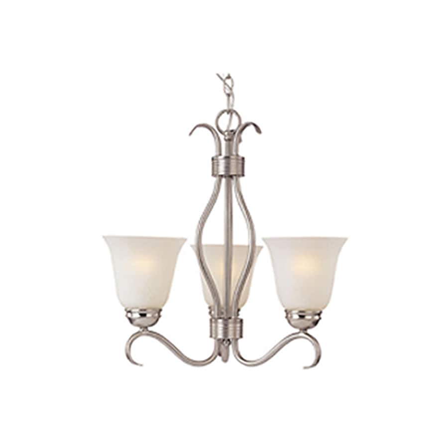 Pyramid Creations Basix EE 19-in 3-Light Satin nickel Chandelier ENERGY STAR