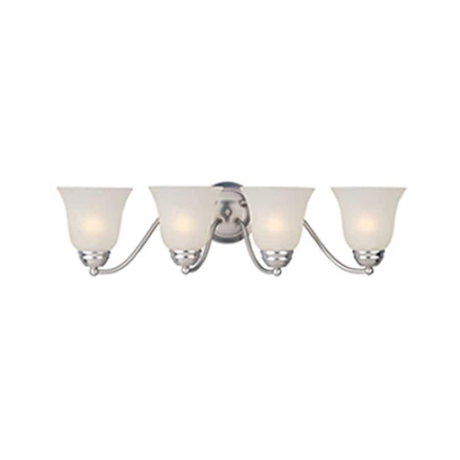 Pyramid Creations Basix EE 4-Light 8-in Satin Nickel Bell Vanity Light