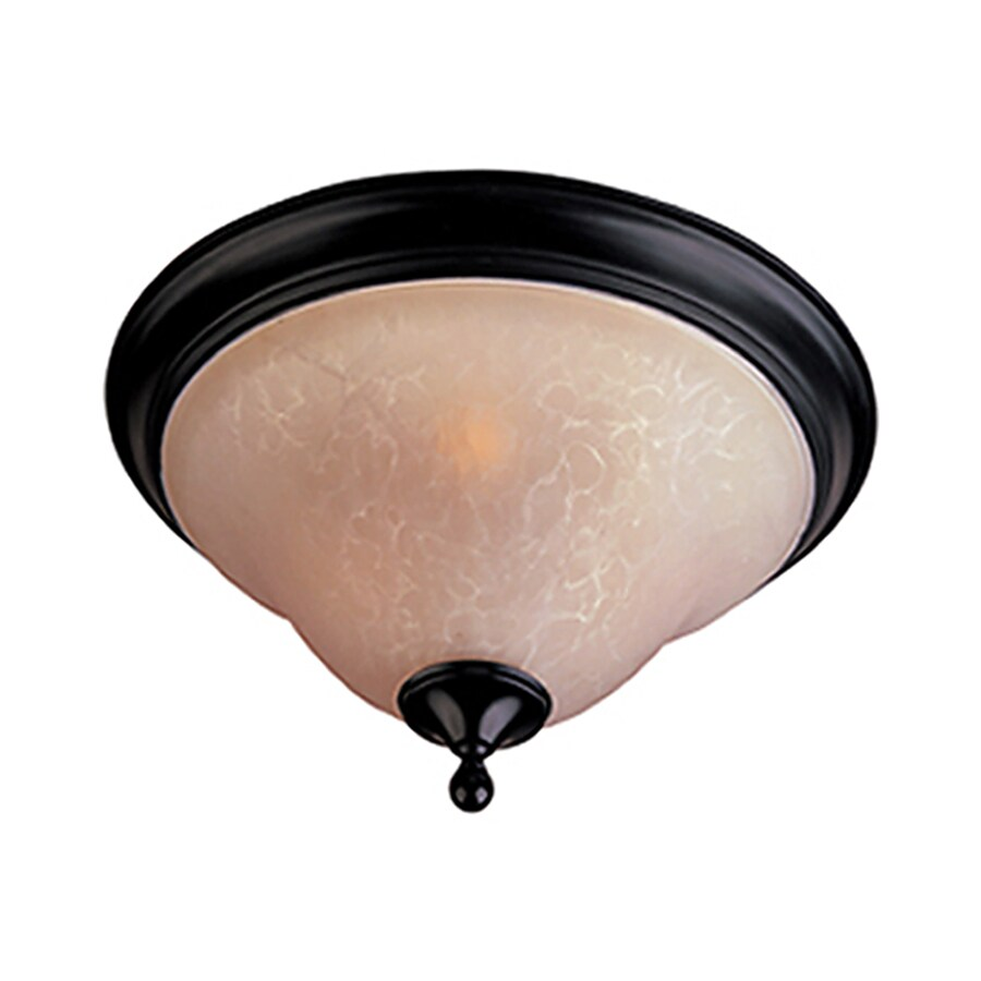 Pyramid Creations 13-in W Oil-Rubbed Bronze Ceiling Flush Mount