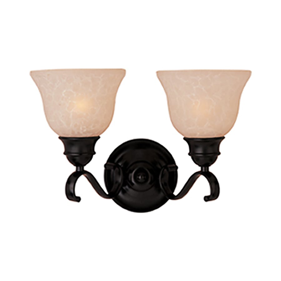 Pyramid Creations Linda Ee 2-Light 8.5-in Oil-Rubbed Bronze Bell Vanity Light