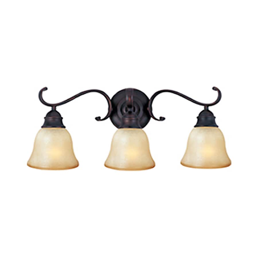Pyramid Creations Linda Ee 3-Light 9-in Oil-Rubbed Bronze Bell Vanity Light