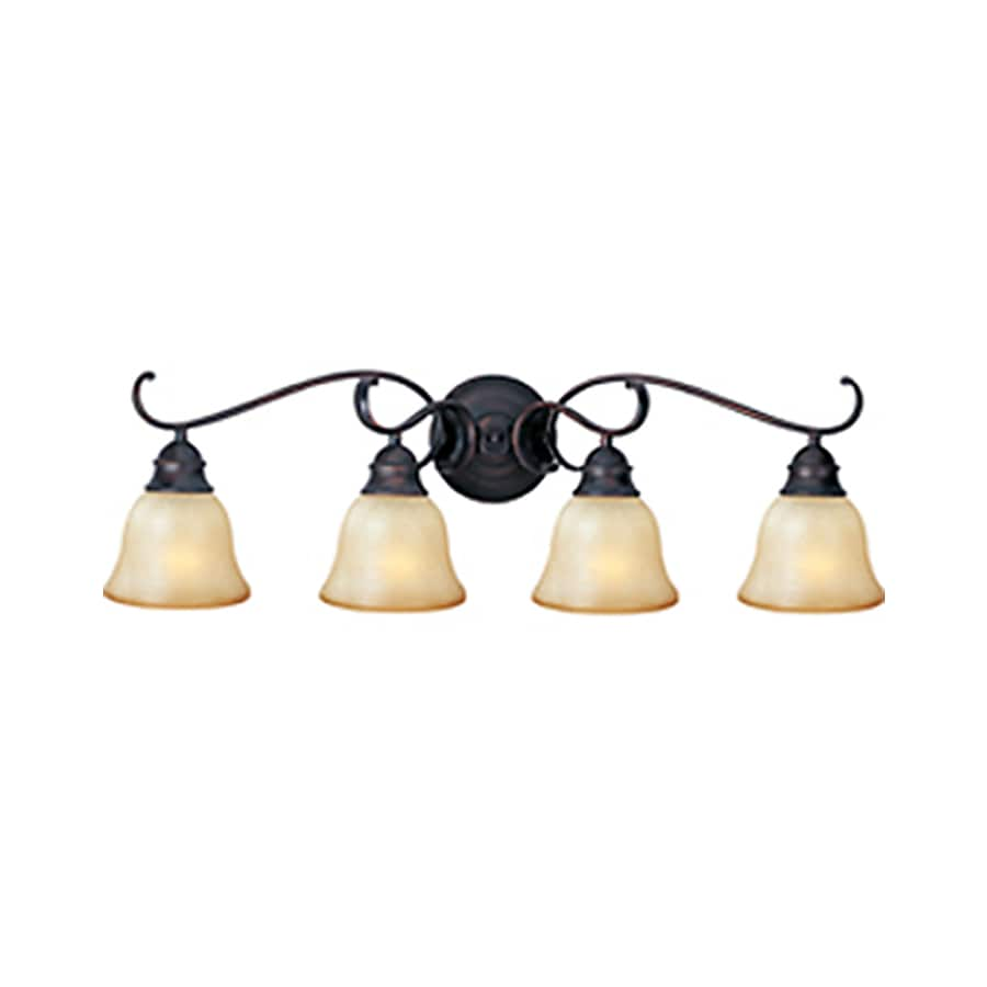 Pyramid Creations Linda Ee 4-Light 9-in Oil-Rubbed Bronze Bell Vanity Light