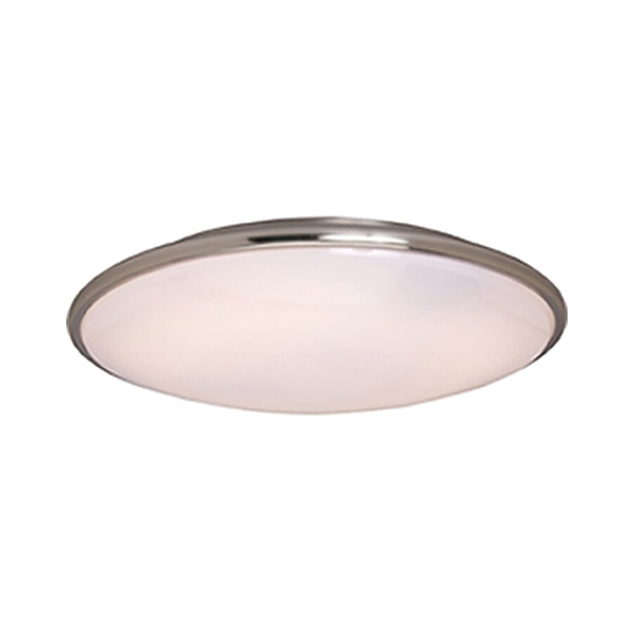 Pyramid Creations 13-in W Satin-Nickel Ceiling Flush Mount Light