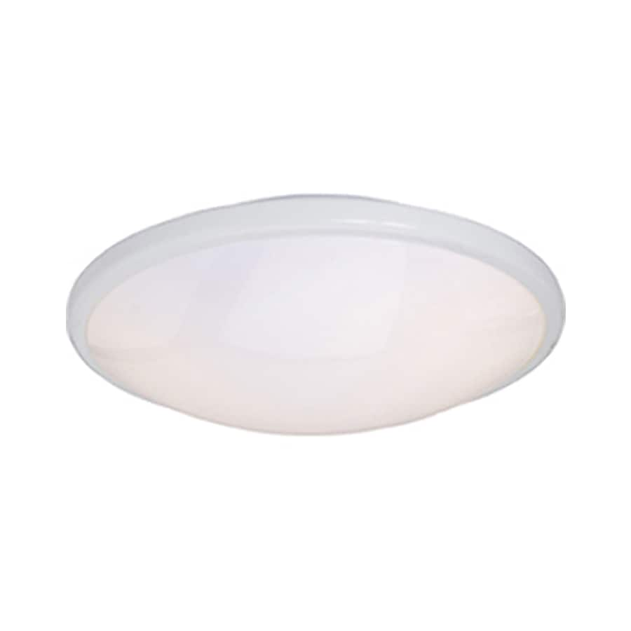 Pyramid Creations 13-in W White Ceiling Flush Mount Light