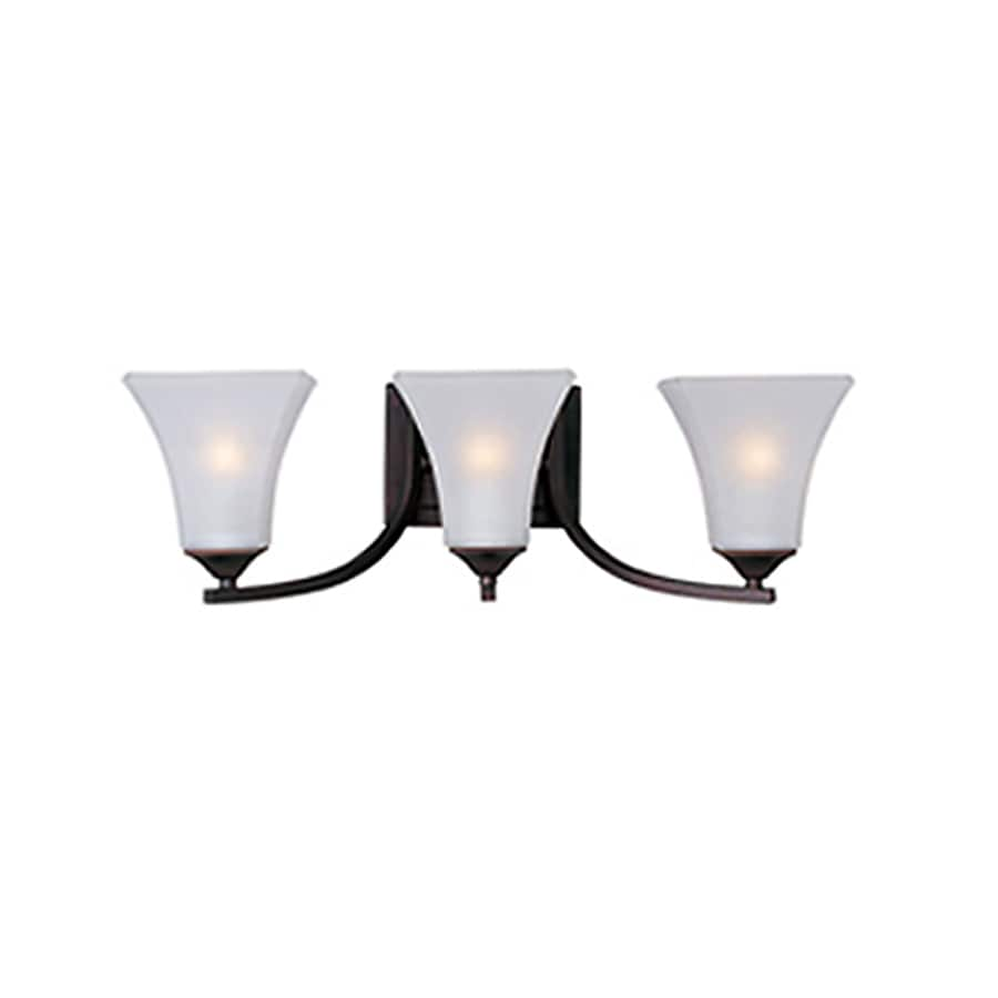 Pyramid Creations Aurora 3-Light Oil-Rubbed Bronze Bell Vanity Light