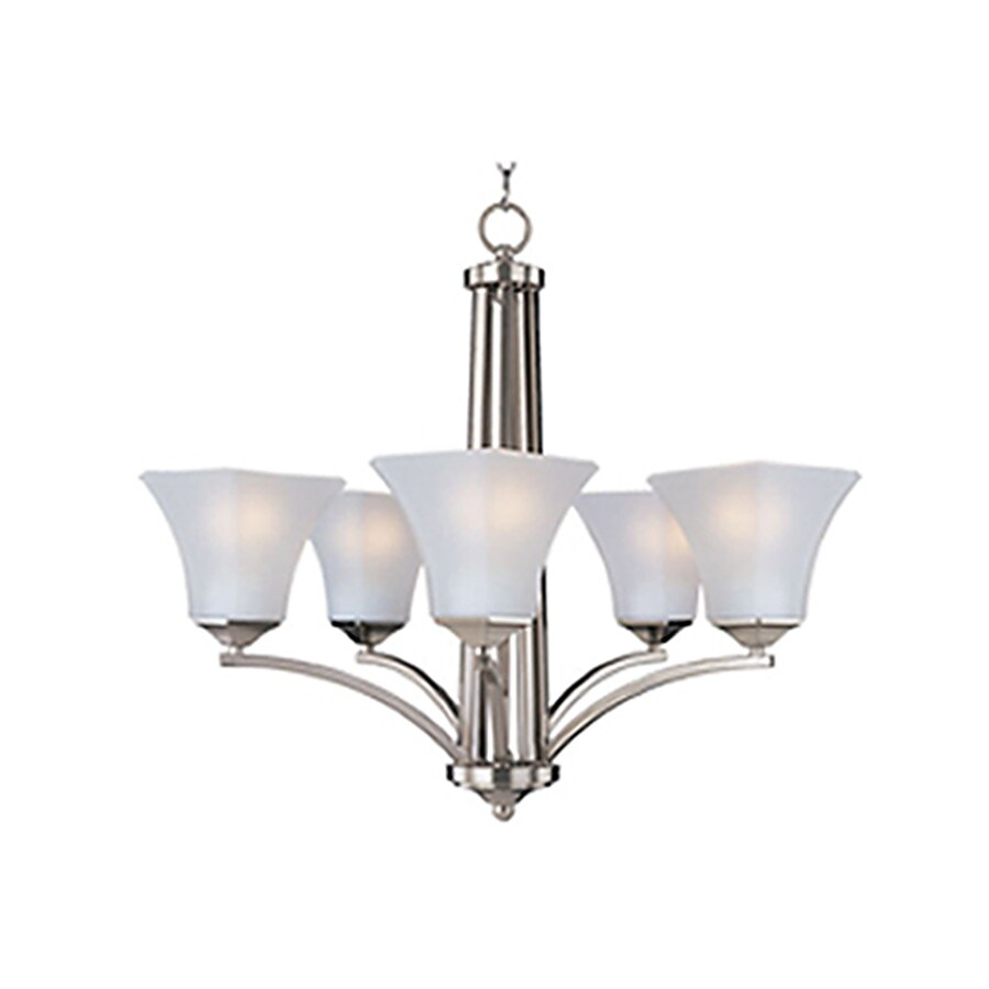 Pyramid Creations Aurora Ee 26-in 5-Light Satin Nickel Chandelier