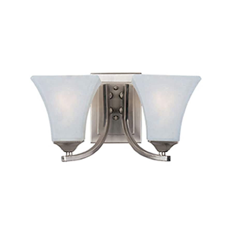 Pyramid Creations Aurora Ee 13.5-in W 2-Light Nickel Arm Hardwired Wall Sconce