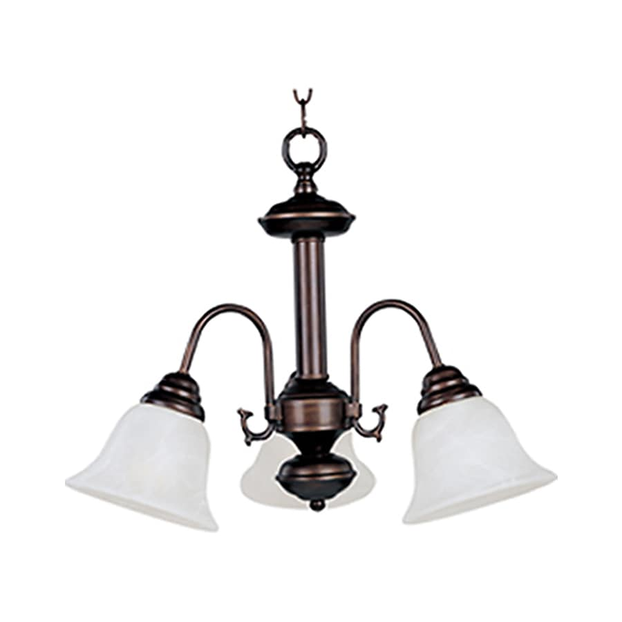 Pyramid Creations Malibu Ee 20-in 3-Light Oil-Rubbed Bronze Chandelier