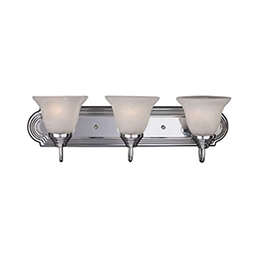 Pyramid Creations Essentialss 3-Light 7-in Polished Chrome Bell Vanity Light