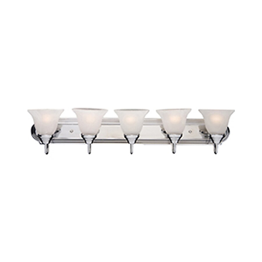 Pyramid Creations Essentialss 5-Light 7-in Polished Chrome Bell Vanity Light