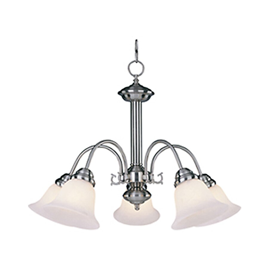 Pyramid Creations Malibu Ee 24-in 5-Light Satin Nickel Chandelier