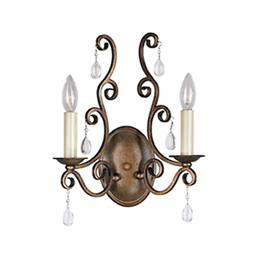 Pyramid Creations Hampton 11.5-in W 2-Light Arm Wall Sconce